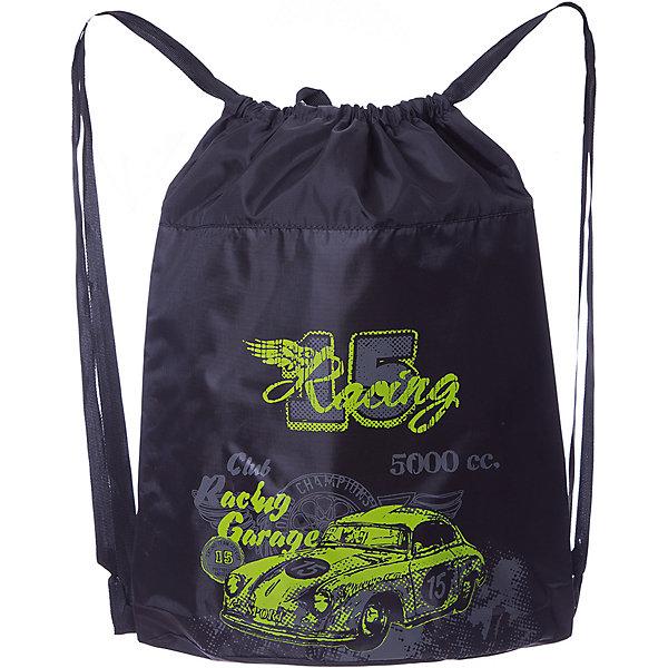 Grizzly Мешок для обуви Grizzly, чёрный/салатовый мешок italbaby мешок для подгузников cuccioli