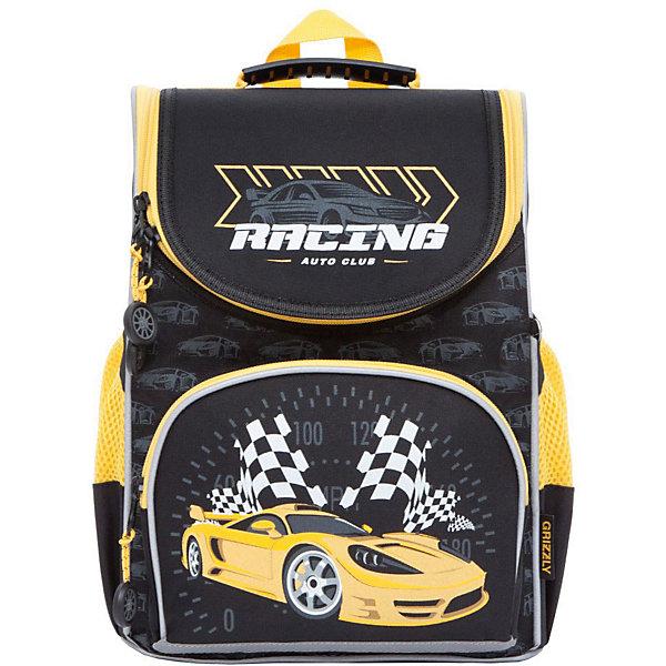 Купить RA-872-3 Рюкзак школьный с мешком /1 черный - желтый, Grizzly, Россия, черный/желтый, Мужской