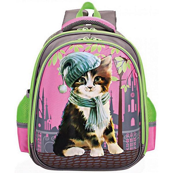 Купить RA-879-2 Рюкзак школьный /1 серый, Grizzly, Китай, Женский