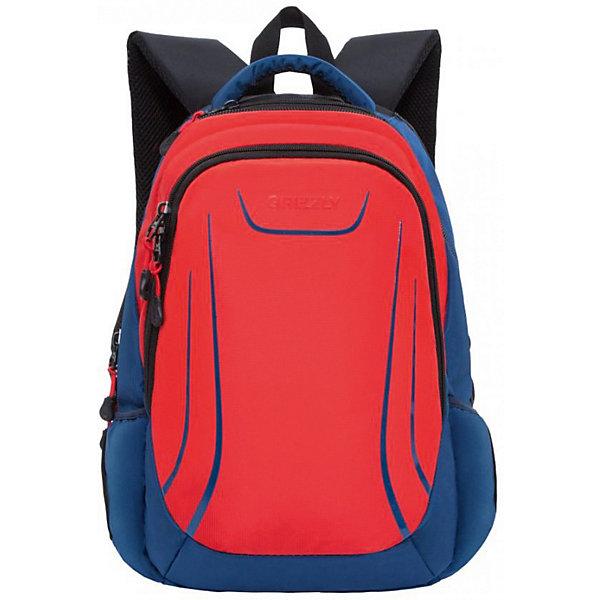 Рюкзак Grizzly, красныйРюкзаки<br>Характеристики:<br><br>• молодежный рюкзак;<br>• жесткая анатомическая спинка;<br>• укрепленные лямки;<br>• дополнительная ручка-петля;<br>• замок: молния;<br>• полужесткое дно;<br>• вмещает формат А4;<br>• материал: полиэстер;<br>• размер рюкзака: 31х46х21 см;<br>• вес: 940 гр.<br><br>Три отделения, объемные боковые карманы на молнии, внутренний карман, внутренний подвесной карман на молнии, внутренний составной пенал-органайзер, жесткая анатомическая спинка, мягкая укрепленная ручка, укрепленные лямки.<br><br>Grizzly Рюкзак красный можно купить в нашем интернет-магазине.<br>Ширина мм: 310; Глубина мм: 40; Высота мм: 460; Вес г: 840; Цвет: красный; Возраст от месяцев: 120; Возраст до месяцев: 2147483647; Пол: Мужской; Возраст: Детский; SKU: 8317430;