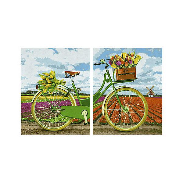 Schipper Картина-диптих по номерам Schipper Голландский велосипед 80х50 см картины постеры гобелены панно картины в квартиру картина бесконечность линий 35х35 см