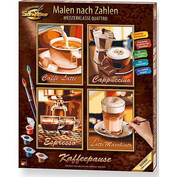 Schipper Картина по номерам  Кофе 4 шт., 18х24 см