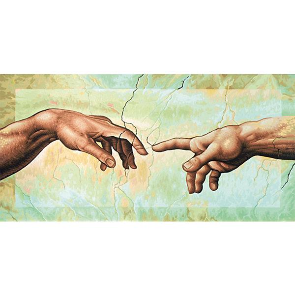 Картина по номерам Schipper Репродукция Сотворение Адама» Микеланджело Буонаротти, 40х80 смКартины по номерам<br>Характеристики:<br><br>• возраст: от 12 лет<br>• в наборе: фактурная картонная основа с пронумерованными контурами (40х80 см.); акриловые краски на водной основе 28 цветов; кисточка из нейлона; наклейки с номерами; контрольный лист; инструкция.<br>• форма полотна: прямоугольная горизонтальная<br>• упаковка: картонная коробка<br>• температура хранения: выше +5°C.<br>• произведено в Германии<br><br>Картина по номерам «Сотворение Адама» от компании Schipper (Шиппер) - это набор для творчества, в который входит все необходимое для создания копии знаменитой картины Микеланджело Буонаротти.<br><br>Нарисовать репродукцию мирового шедевра будет под силу даже тем, кто не обладает навыками художников. Картина-заготовка выполнена на фактурной картонной основе с пронумерованными контурами. Для создания картины потребуется аккуратно, шаг за шагом, заполнять цветными акриловыми красками пронумерованные участки холста. Картина раскрашивается без смешивания красок.<br><br>В наборе имеется контрольный лист, на котором можно потренироваться в нанесении цвета или сверить номер краски на каком-либо участке картины. Акриловые краски в наборе содержатся в очень плотно закрытых контейнерах, поэтому доходят до покупателя, сохранив свои свойства.<br><br>Раскрашивание по номерам позволяет разить творческие способности, моторику пальцев, улучшить цветовосприятие.<br><br>Картину по номерам Schipper Репродукция «Сотворение Адама» Микеланджело Буонаротти, 40х80 см, 1/4 можно купить в нашем интернет-магазине.<br>Ширина мм: 40; Глубина мм: 410; Высота мм: 810; Вес г: 1100; Цвет: разноцветный; Возраст от месяцев: 144; Возраст до месяцев: 2147483647; Пол: Унисекс; Возраст: Детский; SKU: 8317716;
