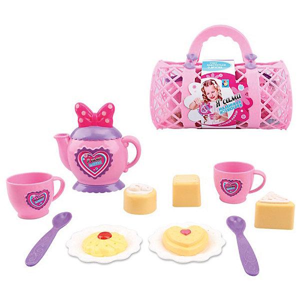 1Toy Игровой набор посудки 1Toy Маленькая хозяюшка, 14 предметов игровой набор 1toy какая же ты красотка 2 пр на карте