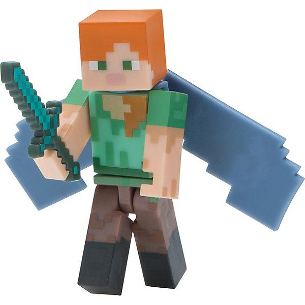 Jazwares Фигурка Jazwares Minecraft Alex with Elytra Wings, 8 см bandai фигурка minecraft mine cade adv pack alex w 4 1 см