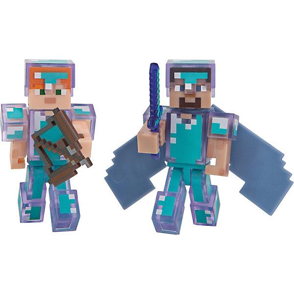 Jazwares Набор фигурок Jazwares Minecraft Steve & Alex Хардкор набор для выживания, 8 см игровые фигурки guidecraft игровые фигурки better builders набор профессии