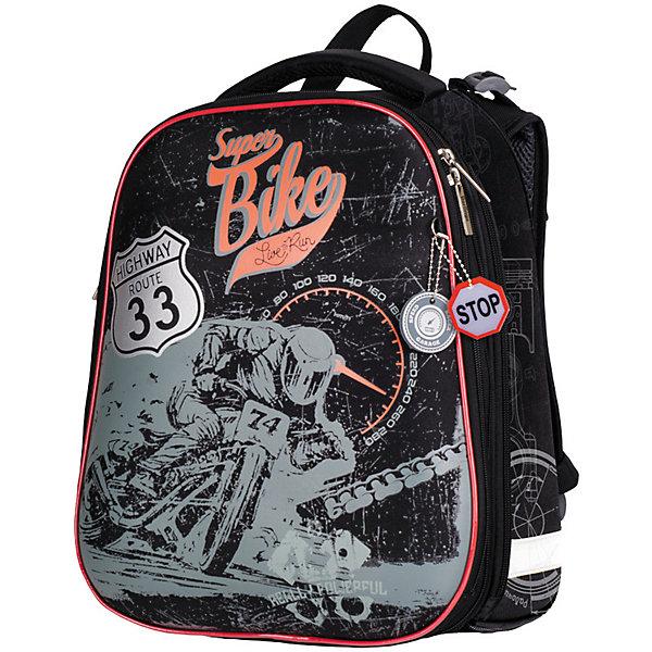 Berlingo Ранец школьный Berlingo «Expert», Super bike, 2 отделения, анатомическая спинка ранец animal planet колибри 36x30x17см жесткая анатомическая спинка