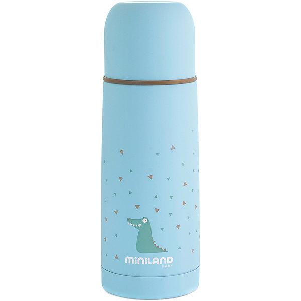 Купить Термос Miniland Silky Thermos 350 мл, голубой, Китай, синий, Унисекс