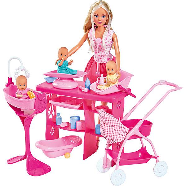 """Simba Игровой набор с куклой Simba """"Steffi Love"""" Штеффи с 3 малышами, 29 см"""