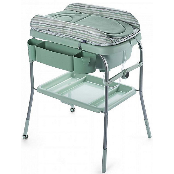 Пеленальный столик Chicco Cuddle &amp; Bubble eucalypПеленальные столы<br>Характеристики:<br><br>• возраст: с рождения;<br>• материал: сталь, полипропилен, полиоксиметилен, полиамид6, ПВХ без фталата, полиуретан, полиэстер, панель МДФ;<br>• тип складывания: книжка;<br>• регулируется по высоте;<br>• вес упаковки: 12 кг.;<br>• размер упаковки: 102х28х81 см;<br>• страна бренда: Италия.<br><br>Пеленальный столик Chicco Cuddle &amp; Bubble – универсальный помощник 2 в 1 для ухода за малышом. Столик может служить классическим местом для пеленания: в нижней части имеется полочка для аксессуаров, сбоку предусмотрен органайзер для детской косметики. Мягкий гипоаллергенный вкладыш легко снимается для чистки.<br><br>Кроме того, под вкладышем предусмотрена детская ванночка с двумя положениями для купания — сидя, полулежа. Имеется разъем для душа, а также трубка для слива жидкости. Столик удобно перемещать из комнаты в ванную благодаря колесикам на ножках. Колеса фиксируются для устойчивости.<br><br>Столик складывается по типу книжки и принимает очень компактные размеры. Изделие выполнено из качественных прочных материалов. <br><br>Пеленальный столик Chicco Cuddle &amp; Bubble eucalyp можно купить в нашем интернет-магазине.<br>Ширина мм: 1020; Глубина мм: 280; Высота мм: 810; Вес г: 12930; Цвет: зеленый; Возраст от месяцев: 0; Возраст до месяцев: 12; Пол: Унисекс; Возраст: Детский; SKU: 8327653;