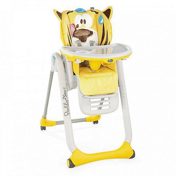 Купить Стульчик для кормления Chicco Polly 2 Start тигренок, Италия, желтый, Унисекс