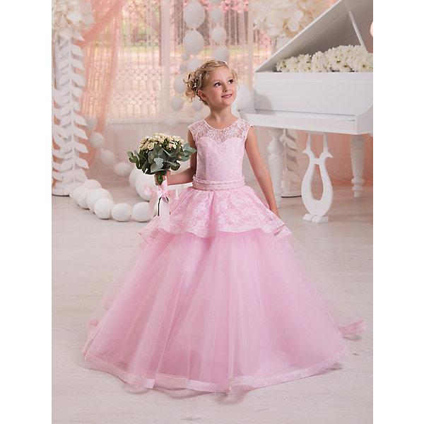 Престиж Платье Престиж для девочки подъюбник пышный белый uni