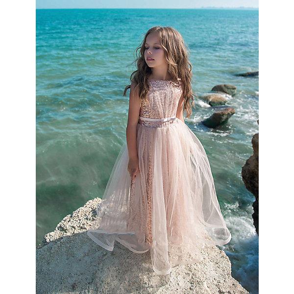 Купить Платье Престиж для девочки, Россия, коричневый, 116, 134, 128, 122, Женский