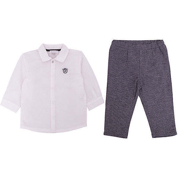 absorba Комплект: Рубашка, брюки Absorba для мальчика песочник голубого цвета absorba ут 00012281