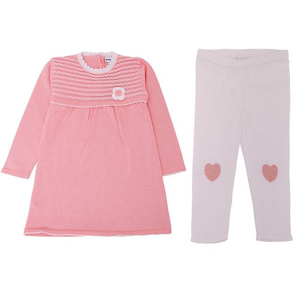 Комплект: Платье, леггинсы 3pommes для девочкиКомплекты<br>Характеристики товара:<br><br>• цвет: розовый;<br>• комплектация: платье, леггинсы;<br>• состав ткани: 100% хлопок;<br>• сезон: демисезон;<br>• застежка: пуговицы;<br>• длинные рукава; <br>• талия: резинка; <br>• страна бренда: Франция.<br><br>Детский комплект состоит из платья и леггинсов, хорошо сочетающихся между собой. Этот комплект для ребенка также отлично комбинируется с другими моделями одежды. Материал детского комплекта - чистый дышащий и гипоаллергенный хлопок, создающий ребенку комфортные условия на весь день. Детская одежда от знаменитого французского бренда 3 Pommes - это стиль и комфорт одновременно. <br><br>Комплект: платье, леггинсы 3 Pommes (3 Поммис) для девочки можно купить в нашем интернет-магазине.<br>Ширина мм: 236; Глубина мм: 16; Высота мм: 184; Вес г: 177; Цвет: оранжевый; Возраст от месяцев: 12; Возраст до месяцев: 18; Пол: Женский; Возраст: Детский; Размер: 86,80; SKU: 8329017;