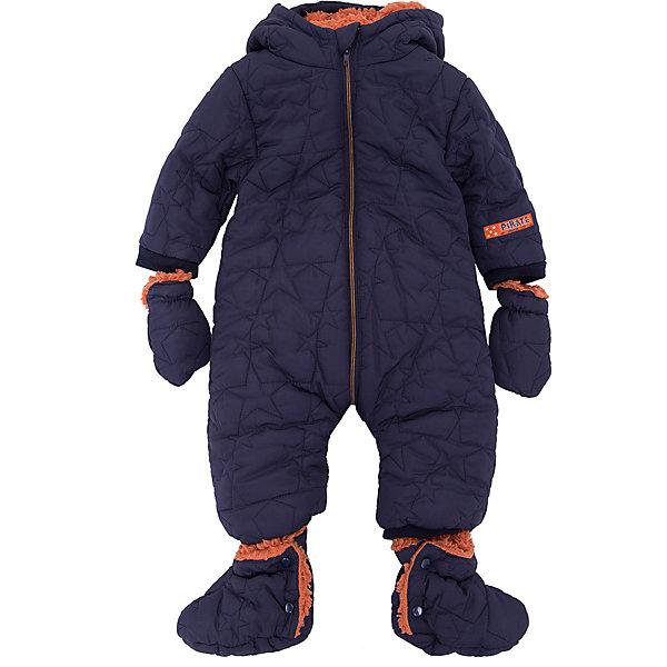 Комбинезон 3pommes для мальчикаВерхняя одежда<br>Характеристики товара:<br><br>• цвет: синий;<br>• комплектация: комбинезон, пинетки, рукавицы;<br>• состав ткани верха: 100% полиэстер;<br>• подкладка: 100% полиэстер;<br>• утеплитель: нет;<br>• сезон: демисезон;<br>• температурный режим: от +5 до +15;<br>• особенности модели: стеганая, с капюшоном;<br>• застежка: молния;<br>• длинные рукава; <br>• страна бренда: Франция.<br><br>Синий комбинезон для ребенка сделан из качественного материала, утеплен внутри мягкой пушистой подкладкой. В комплект детского комбинезона входят пинетки и рукавицы в цвет. Комбинезон для ребенка снабжен длинной молнией, чтобы его можно было легко одеть на малыша. Детская одежда от известного бренда 3 Pommes (3 Поммис) из Франции пользуется популярностью во многих странах благодаря стильному внешнему виду и высокому качеству.<br><br>Комбинезон 3 Pommes (3 Поммис) для мальчика можно купить в нашем интернет-магазине.<br>Ширина мм: 356; Глубина мм: 10; Высота мм: 245; Вес г: 519; Цвет: синий; Возраст от месяцев: 0; Возраст до месяцев: 6; Пол: Мужской; Возраст: Детский; Размер: 55-61,68; SKU: 8329059;