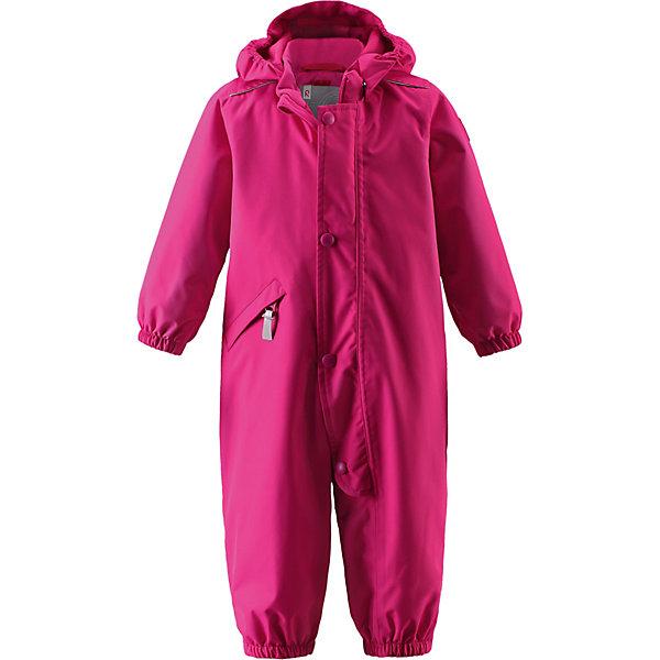 Комбинезон Reimatec Reima для девочкиВерхняя одежда<br>Комбинезон Reimatec Reima для девочки<br>Демисезонный комбинезон для малышей из серии Reimatec®, теперь в новых модных расцветках. Для его пошива мы выбрали водонепроницаемый, ветронепроницаемый и дышащий материал, надежный и комфортный почти круглый год – комбинезон можно носить и зимой, если добавить к нему для утепления промежуточные слои. Обратите внимание на удобную систему кнопок Play Layers®, с помощью которой легко присоединить к комбинезону одежду промежуточного слоя из серии Reima® Play Layers и обеспечить ребенку дополнительное тепло и комфорт. Гладкая подкладка из полиэстера приятна к телу и облегчает надевание. Съемный капюшон защищает от пронизывающего ветра и гарантирует безопасность во время активных прогулок. Силиконовые штрипки не дают концам брючин выбиваться из обуви – можно бегать, прыгать и карабкаться сколько хочешь!<br>Состав:<br>100% Полиэстер, полиуретановое покрытие<br>Ширина мм: 356; Глубина мм: 10; Высота мм: 245; Вес г: 519; Цвет: розовый; Возраст от месяцев: 18; Возраст до месяцев: 24; Пол: Женский; Возраст: Детский; Размер: 92,98; SKU: 8329469;