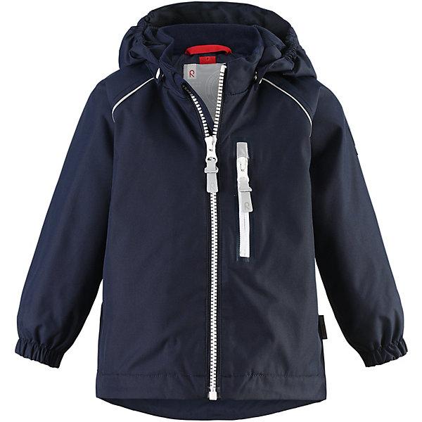 Куртка Reimatec ReimaВерхняя одежда<br>Куртка   Reimatec Reima <br>Эта демисезонная куртка для малышей для дополнительного комфорта снабжена сетчатой подкладкой. Водонепроницаемый, дышащий материал верха и полностью проклеенные швы обеспечат абсолютную защиту от любой непогоды. Прочный материал очень прост в уходе – его можно сушить в барабане. Съемный капюшон защищает от пронизывающего ветра и обеспечивает безопасность во время игр на свежем воздухе. Также обратите внимание на удобную систему кнопок Play Layers®, с помощью которой легко присоединить к куртке много разной одежды из серии Reima® Play Layers и обеспечить ребенку дополнительное тепло и комфорт. Карман на молнии и светоотражатели делают эту оригинальную куртку очень практичной.<br>Состав:<br>100% Полиэстер, полиуретановое покрытие<br>Ширина мм: 356; Глубина мм: 10; Высота мм: 245; Вес г: 519; Цвет: синий; Возраст от месяцев: 12; Возраст до месяцев: 18; Пол: Унисекс; Возраст: Детский; Размер: 86,98,92; SKU: 8329474;