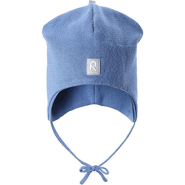 Шапка  ReimaГоловные уборы<br>Шапка  Reima <br>Эта вязанная хлопчатобумажная шапочка для малышей подходит на все случаи жизни. Благодаря классическому дизайну и новым свежим расцветкам она отлично сочетается с различными вариантами одежды. Полуподкладка из хлопчатобумажного трикотажа гарантирует тепло, а ветронепроницаемые вставки между верхним слоем и подкладкой защищают уши. Осенью рано темнеет, поэтому светоотражающие детали обеспечат дополнительную безопасность.<br>Состав:<br>100% Хлопок<br>Ширина мм: 89; Глубина мм: 117; Высота мм: 44; Вес г: 155; Цвет: синий; Возраст от месяцев: 48; Возраст до месяцев: 60; Пол: Унисекс; Возраст: Детский; Размер: 52,46,48; SKU: 8329493;