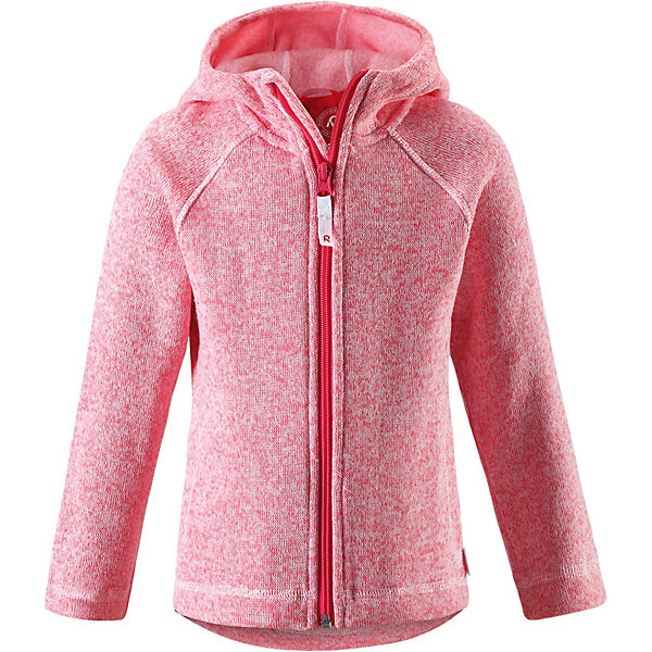 Куртка флисовая  Reima для девочкиФлис и термобелье<br>Куртка флисовая  Reima для девочки<br>Детская флисовая кофта Reima® с облегающим капюшоном на прохладный день. Можно использовать как верхнюю одежду в сухую погоду весной и осенью или поддевать в качестве промежуточного слоя в холода. Обратите внимание на удобную систему кнопок Play Layers®, с помощью которой легко присоединить кофту к одежде из серии Reima® Play Layers и обеспечить ребенку дополнительное тепло и комфорт. Высококачественный полярный флис – это теплый, легкий и быстросохнущий материал, он идеально подходит для активных прогулок. Удлиненная спинка обеспечивает дополнительную защиту для поясницы, а молния во всю длину с защитой для подбородка облегчает надевание.<br>Состав:<br>100% Полиэстер<br>Ширина мм: 356; Глубина мм: 10; Высота мм: 245; Вес г: 519; Цвет: розовый; Возраст от месяцев: 24; Возраст до месяцев: 36; Пол: Женский; Возраст: Детский; Размер: 98,92,140,116,104; SKU: 8329571;