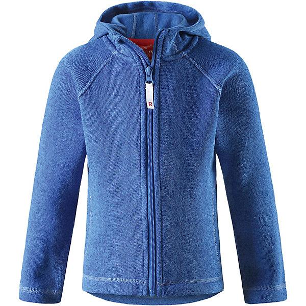 Куртка флисовая  ReimaФлис и термобелье<br>Куртка флисовая  Reima <br>Детская флисовая кофта Reima® с облегающим капюшоном на прохладный день. Можно использовать как верхнюю одежду в сухую погоду весной и осенью или поддевать в качестве промежуточного слоя в холода. Обратите внимание на удобную систему кнопок Play Layers®, с помощью которой легко присоединить кофту к одежде из серии Reima® Play Layers и обеспечить ребенку дополнительное тепло и комфорт. Высококачественный полярный флис – это теплый, легкий и быстросохнущий материал, он идеально подходит для активных прогулок. Удлиненная спинка обеспечивает дополнительную защиту для поясницы, а молния во всю длину с защитой для подбородка облегчает надевание.<br>Состав:<br>100% Полиэстер<br>Ширина мм: 356; Глубина мм: 10; Высота мм: 245; Вес г: 519; Цвет: синий; Возраст от месяцев: 36; Возраст до месяцев: 48; Пол: Унисекс; Возраст: Детский; Размер: 104,134,128; SKU: 8329580;