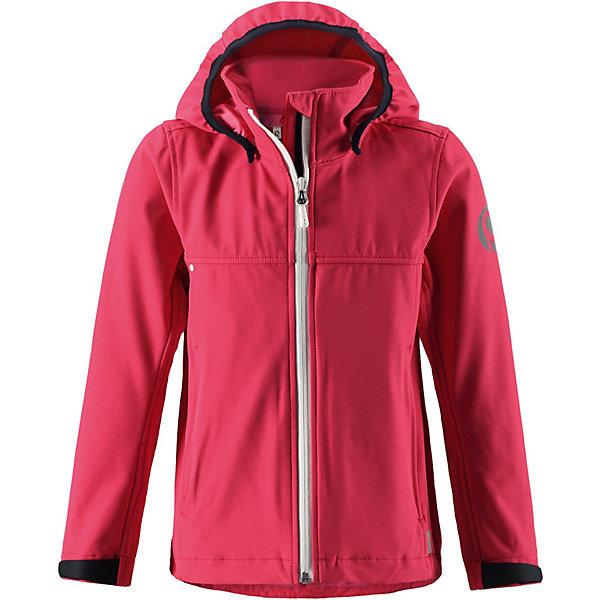 Куртка    Reima для девочкиВерхняя одежда<br>Куртка    Reima для девочки<br>  Эту детскую куртку из материала softshell можно надеть куда угодно. Она эластичная, легкая и дышащая, но при этом надежно защищает от дождя и ветра. В этой новой модели для девочек предусмотрено множество практичных деталей: безопасный съемный капюшон с эластичными завязками и регулируемые манжеты на липучке. Все самое ценное – например, смартфон – можно надежно спрятать в двух карманах на молнии, а на рукаве есть специальный карман с разъемом для сенсора ReimaGO®. В этой куртке вашему ребенку не страшен ни ветер, ни дождь – можно смело отправляться на прогулку!<br>Состав:<br>96% Полиэстер, 4% эластан, полиуретановое покрытие<br>Ширина мм: 356; Глубина мм: 10; Высота мм: 245; Вес г: 519; Цвет: розовый; Возраст от месяцев: 120; Возраст до месяцев: 132; Пол: Женский; Возраст: Детский; Размер: 146,134,158; SKU: 8329641;