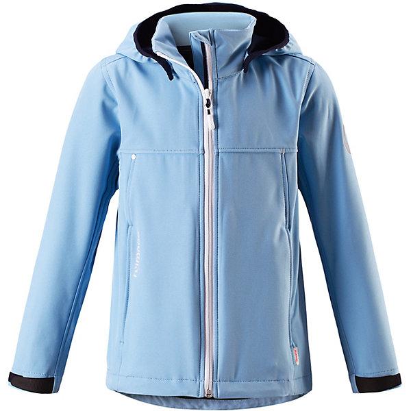 Куртка    Reima для девочкиВерхняя одежда<br>Куртка    Reima для девочки<br>  Эту детскую куртку из материала softshell можно надеть куда угодно. Она эластичная, легкая и дышащая, но при этом надежно защищает от дождя и ветра. В этой новой модели для девочек предусмотрено множество практичных деталей: безопасный съемный капюшон с эластичными завязками и регулируемые манжеты на липучке. Все самое ценное – например, смартфон – можно надежно спрятать в двух карманах на молнии, а на рукаве есть специальный карман с разъемом для сенсора ReimaGO®. В этой куртке вашему ребенку не страшен ни ветер, ни дождь – можно смело отправляться на прогулку!<br>Состав:<br>96% Полиэстер, 4% эластан, полиуретановое покрытие<br>Ширина мм: 356; Глубина мм: 10; Высота мм: 245; Вес г: 519; Цвет: синий; Возраст от месяцев: 84; Возраст до месяцев: 96; Пол: Женский; Возраст: Детский; Размер: 128,164,152,140; SKU: 8329645;