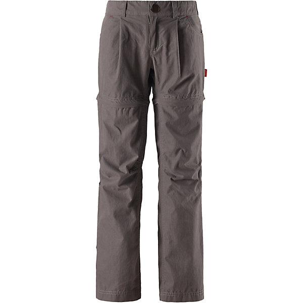 Брюки  Reima для мальчикаБрюки и полукомбинезоны<br>Брюки  Reima для мальчика<br>НОВОЕ ПОСТУПЛЕНИЕ! Перед вами – самые практичные и универсальные брюки сезона для прогулок во дворе, по городу и даже для путешествий. Эти модные брюки из стиранного хлопка за одно мгновение превращаются в брюки-капри или шорты – просто закатайте брючины или отстегните их на коленях. Быстросохнущий и дышащий хлопок защищает и от ветра, и даже от солнца – УФ-защита 50+. Повседневная модель свободного покроя с эластичной регулируемой талией. Снабжены передним и задним карманом и специальным потайным карманом для сенсора ReimaGO®. Сочетайте их с курткой из стиранного хлопка – и у вас получится самый модный и функциональный наряд сезона!<br>Состав:<br>70% Хлопок, 30% полиамид<br>Ширина мм: 215; Глубина мм: 88; Высота мм: 191; Вес г: 336; Цвет: серый; Возраст от месяцев: 36; Возраст до месяцев: 48; Пол: Мужской; Возраст: Детский; Размер: 104,116,110; SKU: 8329694;