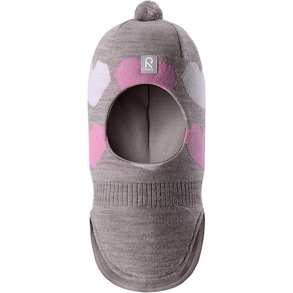 Шапка  Reima для девочкиШапки и шарфы<br>Шапка  Reima для девочки<br>Мягкая и удобная шапка-шлем для малышей превосходно согреет в зимний день. Она сделана из мягкой мериносовой шерсти, которая превосходно регулирует температуру. Снабжена полной подкладкой из удобного джерси из смеси хлопка и эластана и ветронепроницаемыми вставками в области ушей. Сплошная жаккардовая узорная вязка. Помпон на макушке довершает образ!<br>Состав:<br>100% Шерсть<br>Ширина мм: 89; Глубина мм: 117; Высота мм: 44; Вес г: 155; Цвет: серый; Возраст от месяцев: 48; Возраст до месяцев: 60; Пол: Женский; Возраст: Детский; Размер: 52,50,54; SKU: 8329914;