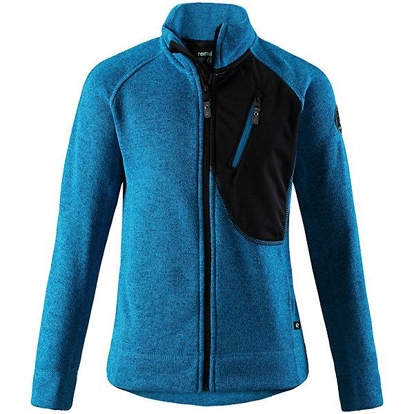 Свитер  Reima для мальчикаТолстовки<br>Свитер  Reima для мальчика<br>Удобная детская флисовая куртка из мягкой меланжевой пряжи. Она сшита из материала, который объединил в себе стильный вязаный дизайн и все преимущества флиса: удобный, легкий, эластичный и дышащий флис быстро сохнет, выводя влагу в верхние слои одежды. Куртка снабжена молнией во всю длину, передним карманом на молнии и специальным карманом с кнопками для сенсора ReimaGo.<br>Состав:<br>100% Полиэстер<br>Ширина мм: 190; Глубина мм: 74; Высота мм: 229; Вес г: 236; Цвет: синий; Возраст от месяцев: 72; Возраст до месяцев: 84; Пол: Мужской; Возраст: Детский; Размер: 122,164,158,152,146; SKU: 8329948;