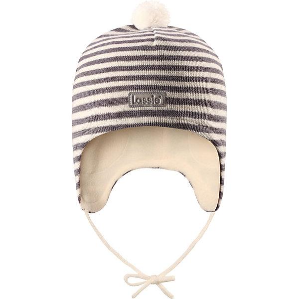 Шапка  LassieШапки и шарфы<br>Шапка  Lassie <br>Красивая полосатая шапка для малышей незаменима в холодные зимние дни! Гладкая флисовая подкладка очень приятна на ощупь и обеспечивает дополнительное утепление. Ветронепроницаемые вставки в области ушей защищают ушки от холодного ветра.<br>Состав:<br>50% Шерсть, 50% Полиакрил<br>Ширина мм: 89; Глубина мм: 117; Высота мм: 44; Вес г: 155; Цвет: серый; Возраст от месяцев: 48; Возраст до месяцев: 60; Пол: Унисекс; Возраст: Детский; Размер: 44-46; SKU: 8329971;