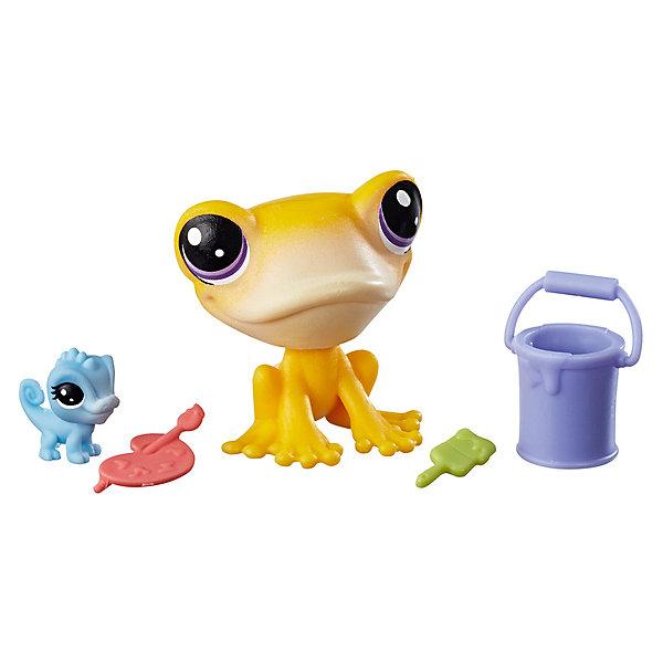 Hasbro Игровой набор фигурок Littlest Pet Shop Парочки Iggy Frogstein & Mitzi McLizard littlest pet shop фигурка bijou byson