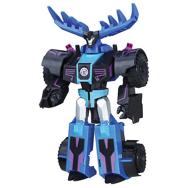 Трансфореры Hasbro Transformers Роботс-ин-Дисгайс Гиперчэндж, ТандерхуфТрансформеры-игрушки<br>Характеристики товара:<br><br>• возраст: от 6 лет;<br>• материал: пластик;<br>• в комплекте: фигурка;<br>• высота фигурки: 15 см;<br>• размер упаковки: 21х8х6 см;<br>• вес упаковки: 220 гр.<br><br>Робот-трансформер Hasbro Transformers «Роботс-ин-Дисгайс Гиперчэндж Тандерхуф» представляет собой героя известных мультсериалов про роботов-трансформеров. Всего за пару простых движений фигурка превращается во внедорожник с большими колесами. Изготовлена фигурка из качественного безопасного пластика.<br><br>Робота-трансформера Hasbro Transformers «Роботс-ин-Дисгайс Гиперчэндж Тандерхуф» можно приобрести в нашем интернет-магазине.<br>Ширина мм: 79; Глубина мм: 203; Высота мм: 229; Вес г: 300; Возраст от месяцев: 60; Возраст до месяцев: 120; Пол: Мужской; Возраст: Детский; SKU: 8331431;