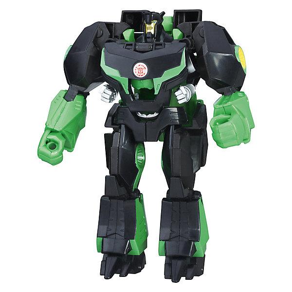 Трансфореры Hasbro Transformers Роботс-ин-Дисгайс Гиперчэндж, ГримлокТрансформеры-игрушки<br>Характеристики товара:<br><br>• возраст: от 6 лет;<br>• материал: пластик;<br>• в комплекте: фигурка;<br>• высота фигурки: 15 см;<br>• размер упаковки: 21х8х6 см;<br>• вес упаковки: 220 гр.<br><br>Робот-трансформер Hasbro Transformers «Роботс-ин-Дисгайс Гиперчэндж Гримлок» представляет собой героя известных мультсериалов про роботов-трансформеров. Всего за пару простых движений фигурка превращается в могучего динозавра. Изготовлена фигурка из качественного безопасного пластика.<br><br>Робота-трансформера Hasbro Transformers «Роботс-ин-Дисгайс Гиперчэндж Гримлок» можно приобрести в нашем интернет-магазине.<br>Ширина мм: 79; Глубина мм: 203; Высота мм: 229; Вес г: 300; Возраст от месяцев: 60; Возраст до месяцев: 120; Пол: Мужской; Возраст: Детский; SKU: 8331433;