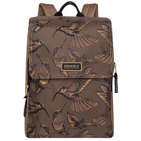 Купить RD-831-1 рюкзак /2 бежевый, Grizzly, Россия, Женский