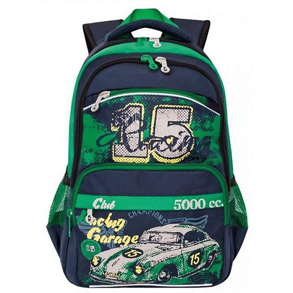 Купить RB-860-1 Рюкзак школьный /3 синий - зеленый, Grizzly, Россия, синий/зеленый, Мужской