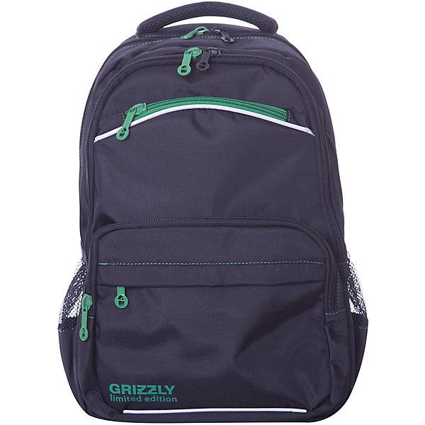 Рюкзак школьный Grizzly, чёрный/зелёныйРюкзаки<br>Характеристики:<br><br>• школьный рюкзак;<br>• жесткая анатомическая спинка;<br>• дополнительная ручка-петля;<br>• мягкая укрепленная ручка;<br>• укрепленные лямки;<br>• откидное жесткое дно;<br>• тип застежки: молния;<br>• вмещает формат А4;<br>• материал: полиэстер;<br>• размер рюкзака: 29х39х17 см;<br>• вес: 828 г.<br><br>Школьный рюкзак имеет два отделения, два объемных кармана на молнии на передней стенке, боковые карманы из сетки, внутренний подвесной карман на молнии, внутренний составной пенал-органайзер. Светоотражающие элементы с четырех сторон. Рюкзак подходит ученикам средней школы.<br><br>Grizzly RB-860-2 Рюкзак школьный /1 черный - зеленый можно купить в нашем интернет-магазине.<br>Ширина мм: 280; Глубина мм: 40; Высота мм: 390; Вес г: 620; Цвет: schwarz/gr?n; Возраст от месяцев: 108; Возраст до месяцев: 144; Пол: Мужской; Возраст: Детский; SKU: 8333846;