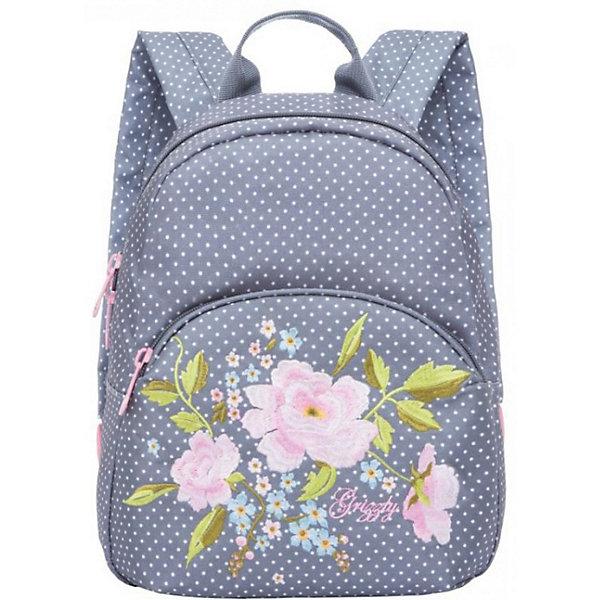 Купить RL-859-2 рюкзак /1 серые горохи, Grizzly, Россия, серый, Женский