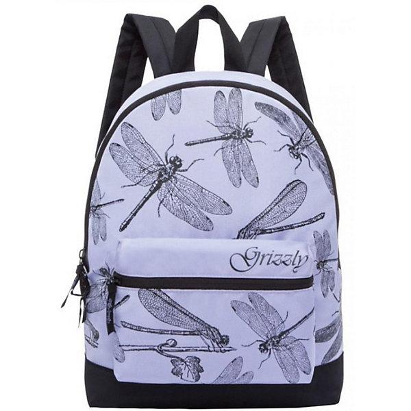 Рюкзак Grizzly, лавандаРюкзаки<br>Характеристики:<br><br>• молодежный рюкзак;<br>• полужесткая анатомическая спинка;<br>• дополнительная ручка-петля;<br>• укрепленные лямки;<br>• уплотненное дно;<br>• тип застежки: молния;<br>• материал: полиэстер;<br>• размер рюкзака: 29х41х18 см;<br>• вес: 350 г.<br><br>Молодежный рюкзак имеет одно отделение, объемный карман на молнии на передней стенке, боковые карманы из сетки, внутренний карман, карман быстрого доступа на задней стенке. Рюкзак представлен в синем цвете, декорирован пестрым принтом - игривые туканы прячутся в цветочных зарослях. <br><br>Grizzly Рюкзак лаванда можно купить в нашем интернет-магазине.<br>Ширина мм: 300; Глубина мм: 40; Высота мм: 410; Вес г: 436; Цвет: фиолетовый; Возраст от месяцев: 144; Возраст до месяцев: 2147483647; Пол: Женский; Возраст: Детский; SKU: 8333914;