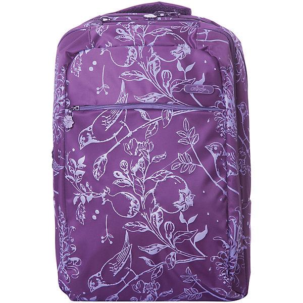 Рюкзак Grizzly, фиолетовыйРюкзаки<br>Характеристики:<br><br>• молодежный рюкзак;<br>• жесткая анатомическая спинка;<br>• нагрудная стяжка-фиксатор<br>• мягкая укрепленная ручка;<br>• укрепленные лямки;<br>• уплотненное дно;<br>• тип застежки: молния;<br>• светоотражающие элементы;<br>• вмещает формат А4;<br>• материал: полиэстер;<br>• размер рюкзака: 28х40х16 см;<br>• вес: 675 г.<br><br>Молодежный рюкзак имеет два отделения, карман на молнии на передней стенке, внутренний карман на молнии, внутренний карман-пенал для карандашей, внутренний укрепленный карман для ноутбука, карман быстрого доступа в верхней части рюкзака. <br><br>Рюкзак с анатомической спинкой и нагрудной стяжкой-фиксатором позволяет распределить нагрузку равномерно вдоль позвоночника. Рюкзак с дополнительными карманами дает возможность распределить вещи таким образом, чтобы все содержимое находилось под рукой. <br><br>Grizzly Рюкзак фиолетовый можно купить в нашем интернет-магазине.<br>Ширина мм: 280; Глубина мм: 40; Высота мм: 400; Вес г: 675; Цвет: фиолетовый; Возраст от месяцев: 144; Возраст до месяцев: 2147483647; Пол: Женский; Возраст: Детский; SKU: 8333972;