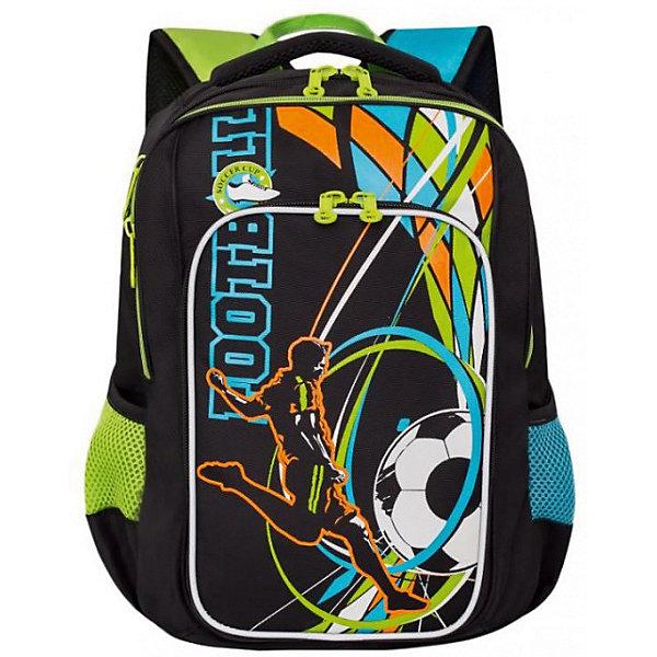 Рюкзак школьный Grizzly, чёрныйРюкзаки<br>Характеристики:<br><br>• школьный рюкзак;<br>• жесткая анатомическая спинка;<br>• мягкая укрепленная ручка;<br>• дополнительная ручка-петля;<br>• укрепленные лямки;<br>• уплотненное дно;<br>• тип застежки: молния;<br>• светоотражающие элементы;<br>• вмещает формат А4;<br>• материал: полиэстер;<br>• размер рюкзака: 27х38х19 см;<br>• вес: 790 г.<br><br>Школьный рюкзак имеет два отделения с разделительной перегородкой, объемный карман на молнии на передней стенке, боковые карманы из сетки, карман быстрого доступа на задней стенке. Светоотражающие элементы с четырех сторон делают ребенка заметным на дорогах. Рюкзак подходит детям 10-13 лет. <br><br>Grizzly RB-861-2 Рюкзак школьный /1 черный можно купить в нашем интернет-магазине.<br>Ширина мм: 270; Глубина мм: 40; Высота мм: 380; Вес г: 710; Цвет: черный; Возраст от месяцев: 108; Возраст до месяцев: 144; Пол: Мужской; Возраст: Детский; SKU: 8333976;