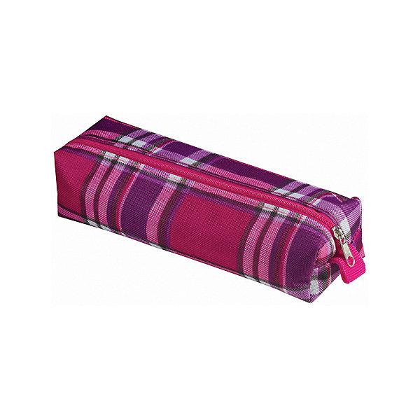 Пенал-косметичка Brauberg Шотландия, фиолетовый с розовымПеналы без наполнения<br>Характеристики:<br><br>• мягкий пенал-косметичка;<br>• тип застежки: молния;<br>• 1 основное отделение;<br>• клетчатый принт;<br>• материал: полиэстер;<br>• размер косметички: 20х6х4 см.<br><br>Пенал-косметичка для канцелярских принадлежностей и полезных мелочей. Отделение застегивается на молнию. Косметичка представлена в фиолетовом цвете с клетчатым розово-фиолетовом принтом. Удобный, легкий и вместительный пенал выполнен из прочного материала. <br><br>Пенал-косметичка Brauberg «Шотландия», фиолетовый с розовым можно купить в нашем интернет-магазине.<br>Ширина мм: 60; Глубина мм: 200; Высота мм: 40; Вес г: 30; Цвет: розовый; Возраст от месяцев: -2147483648; Возраст до месяцев: 2147483647; Пол: Женский; Возраст: Детский; SKU: 8334018;