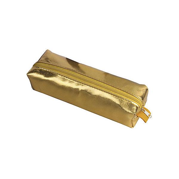 Пенал-косметичка Brauberg Винтаж, золотойПеналы без наполнения<br>Характеристики:<br><br>• мягкий пенал-косметичка;<br>• тип застежки: молния;<br>• 2 основных отделения;<br>• 1 дополнительный карман;<br>• материал: искусственная кожа;<br>• размер пенала: 20х6х4 см.<br><br>Пенал-косметичка для канцелярских товаров изготовлен из мягкой искусственной кожи. Все отделения застегиваются на молнию. Косметичка вместительная и в то же время компактная. <br><br>Пенал-косметичка Brauberg «Винтаж», золотой можно купить в нашем интернет-магазине.<br>Ширина мм: 60; Глубина мм: 200; Высота мм: 40; Вес г: 31; Цвет: золотой; Возраст от месяцев: -2147483648; Возраст до месяцев: 2147483647; Пол: Женский; Возраст: Детский; SKU: 8334020;