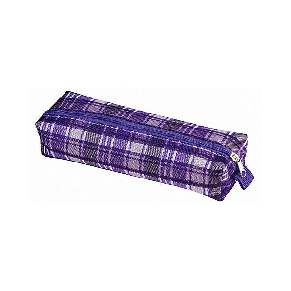 Пенал-косметичка Brauberg Шотландия, светло-фиолетовыйПеналы без наполнения<br>Характеристики:<br><br>• мягкий пенал-косметичка;<br>• тип застежки: молния;<br>• 1 основное отделение;<br>• клетчатый принт;<br>• материал: полиэстер;<br>• размер косметички: 20х6х4 см.<br><br>Пенал-косметичка для канцелярских принадлежностей и полезных мелочей. Отделение застегивается на молнию. Косметичка представлена в фиолетовом цвете с клетчатым розово-фиолетовом принтом. Удобный, легкий и вместительный пенал выполнен из прочного материала. <br><br>Пенал-косметичка Brauberg «Шотландия», свыетло-фиолетовый с розовым можно купить в нашем интернет-магазине.<br>Ширина мм: 60; Глубина мм: 200; Высота мм: 40; Вес г: 28; Цвет: фиолетовый; Возраст от месяцев: -2147483648; Возраст до месяцев: 2147483647; Пол: Женский; Возраст: Детский; SKU: 8334026;