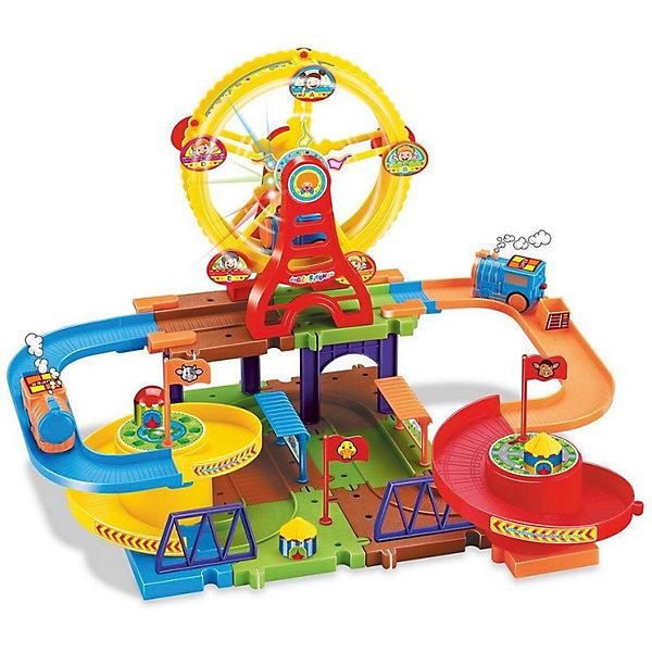 Devik Toys Железная дорога Devik Toys с поездом (свет, звук) devik toys набор машинок devik toys строительная техника