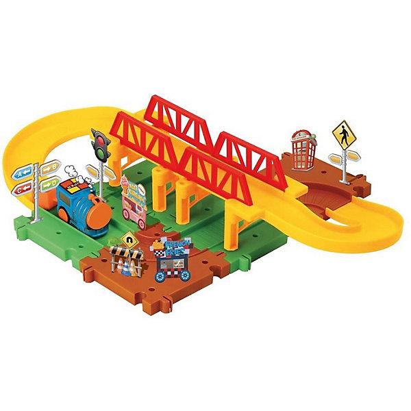 Devik Toys Железная дорога Devik Toys с поездом (свет, звук) железные дороги brio железная дорога с автодорогой и переездом