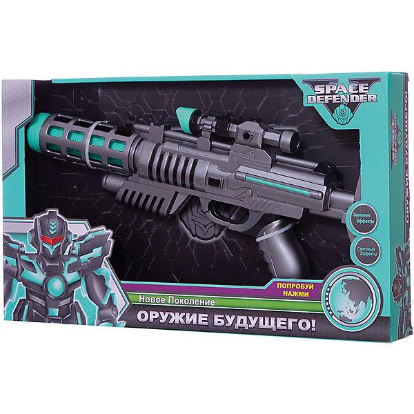 Космический пистолет Devik Toys Space Defender с музыкой и светом, 40 смИгрушечные пистолеты и бластеры<br>Характеристики:<br><br>• возраст: от 5 лет;<br>• материал: пластик;<br>• длина игрушки: 40 см;<br>• свет и звук: да;<br>• тип батареек: 3хАА;<br>• наличие батареек: в комплекте;<br>• вес упаковки: 600 гр.;<br>• размер упаковки: 6х46х27 см;<br>• страна бренда: Беларусь.<br><br>Космический пистолет Devik Toys выглядит как оружие будущего для борьбы с недружелюбными пришельцами с других планет. Пушкой легко управлять одной рукой, а также держать двумя как классический автомат. Во время игры звучит звуковое сопровождение, оружие светится. Игрушка сделана из прочного качественного пластика.<br><br>Набор Devik Toys «Космический пистолет» с музыкой и светом, 40 см можно купить в нашем интернет-магазине.<br>Ширина мм: 60; Глубина мм: 460; Высота мм: 270; Вес г: 600; Цвет: разноцветный; Возраст от месяцев: 36; Возраст до месяцев: 120; Пол: Мужской; Возраст: Детский; SKU: 8334152;