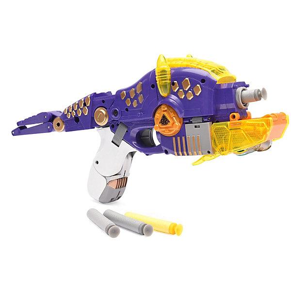 Devik Toys Пистолет-робот 2 в 1 Трицераптос, с 6 мягкими патронами