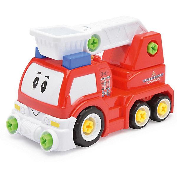 Машинка Devik Toys Пожарная машина разборнаяМашинки<br>Характеристики:<br><br>• возраст: от 5 лет;<br>• материал: пластик;<br>• в наборе: игрушка, ключ, отвертка;<br>• вес упаковки: 840 гр.;<br>• размер упаковки: 16х39х23 см;<br>• страна бренда: Беларусь.<br><br>Разборная пожарная машина Devik Toys состоит из частей, которые можно собрать с помощью инструментов из набора. Игрушка имеет красочный дизайн, на кабине техники нарисовано забавное личико. Стрела машины поднимается, что делает игры еще интересней.<br><br>Сборка игрушки развивает логическое мышление и мелкую моторику. Набор выполнен из качественного прочного пластика.<br><br>Игровой набор Devik Toys «Пожарная машина разборная» можно купить в нашем интернет-магазине.<br>Ширина мм: 160; Глубина мм: 390; Высота мм: 230; Вес г: 1000; Цвет: разноцветный; Возраст от месяцев: 36; Возраст до месяцев: 120; Пол: Мужской; Возраст: Детский; SKU: 8334160;