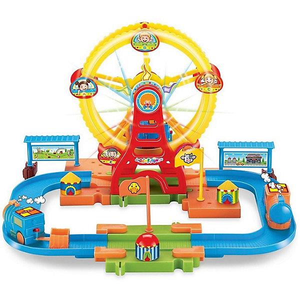 Купить Железнодорожный набор с поездом Devik Toys, 33*32*21см, со сетовыми и звуковыми эффектами, Китай, разноцветный, Мужской